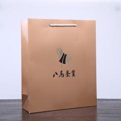 八马茶业 通用手提袋4号金色(2015)