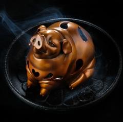 八马茶业    萌宠福猪香炉