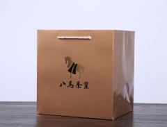 八马茶业 通用手提袋2号金色(2015)