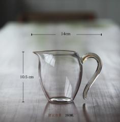 怡然金丝玻璃公道杯