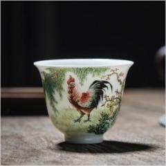 十二生肖-粉彩大吉大利杯