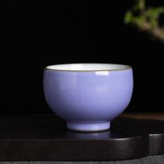 官窑无光紫罗汉杯
