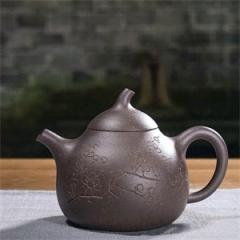 张生品定 - 梅花匏瓜紫砂壶