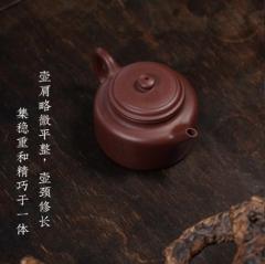 经典传统 - 刻绘德钟紫砂壶
