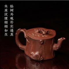 经典传统 - 大品松段紫砂壶