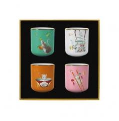 鼠来保·福禄寿喜·茶杯礼盒组