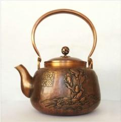 寿山福海紫铜壶