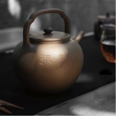 玉成窑摹古清心紫砂煮水壶